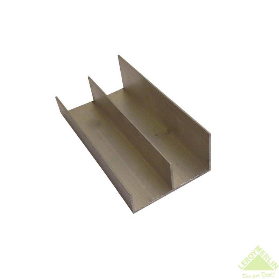 Направляющая для шкафа купе нижняя MC-L90-H 1800 мм нагрузка до 45 кг алюминий