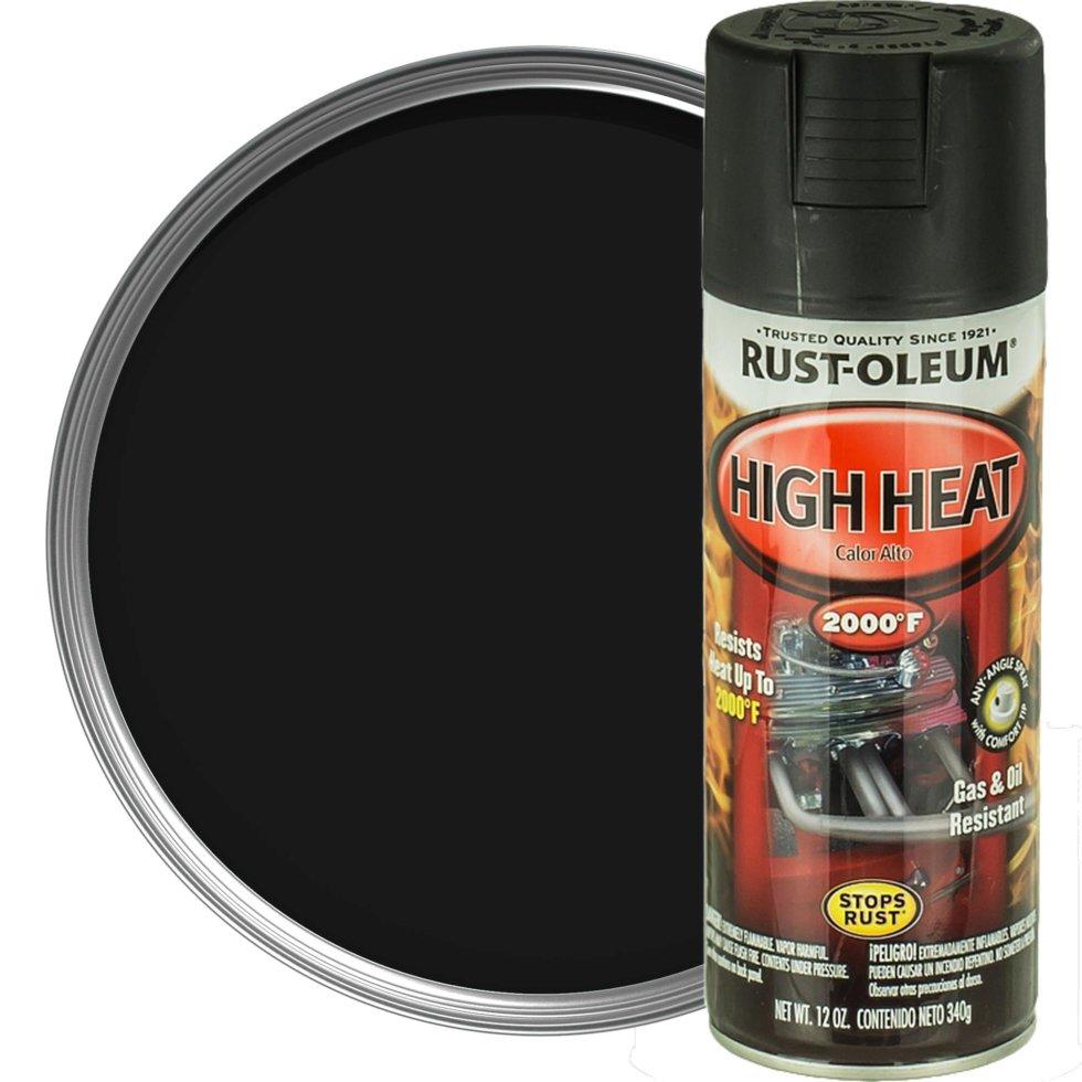 Краска аэрозольная Rustoleum (до 1093 градусов) цвет чёрный 0.34 кг