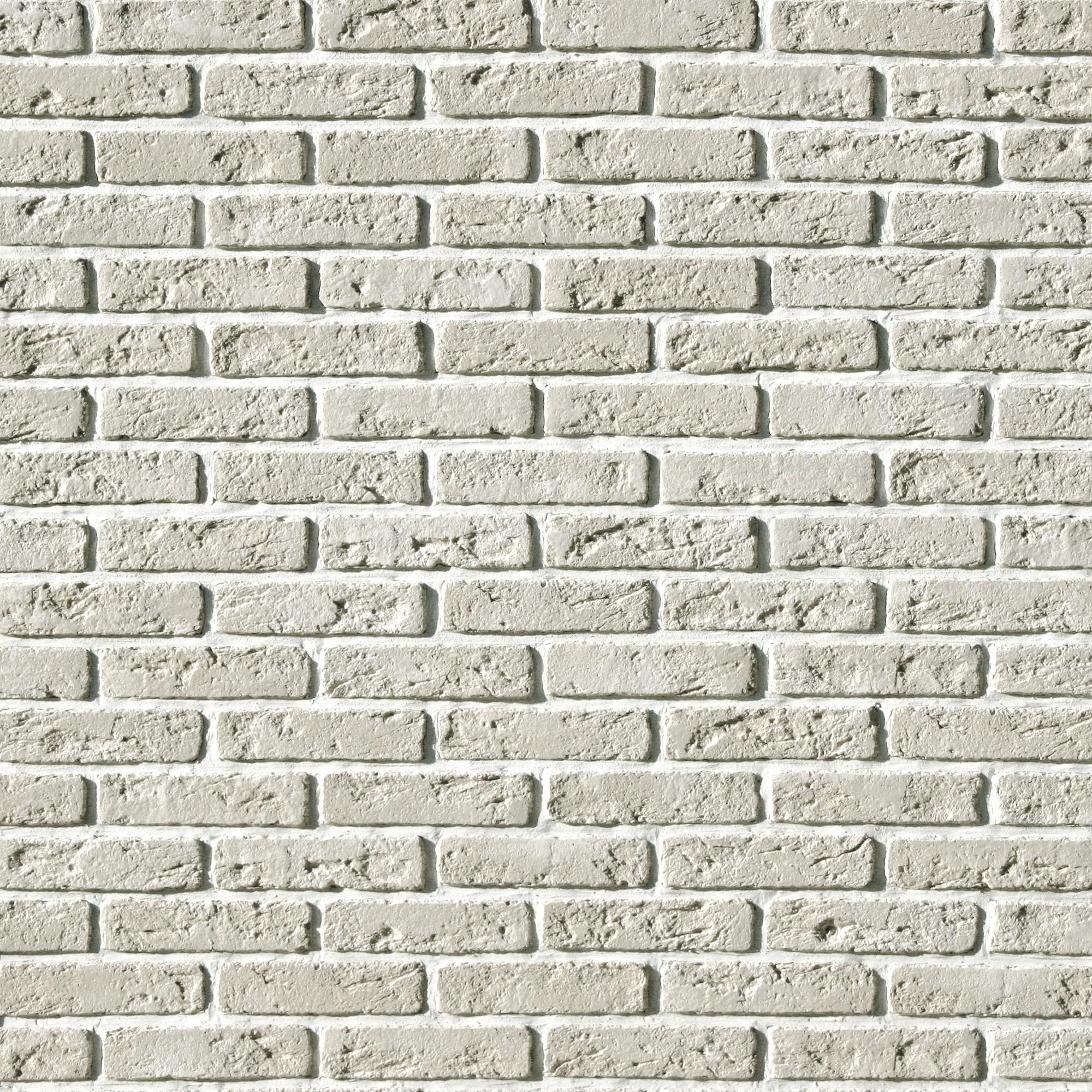 Плитка облицовочная Эллин Брик, цвет белый, 1.1 м2