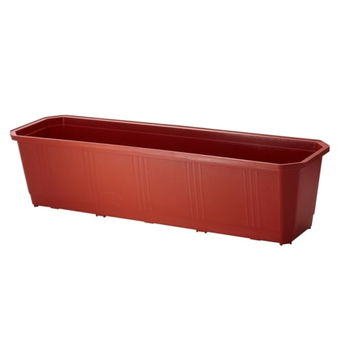 Ящик балконный терракот 60 см, пластик