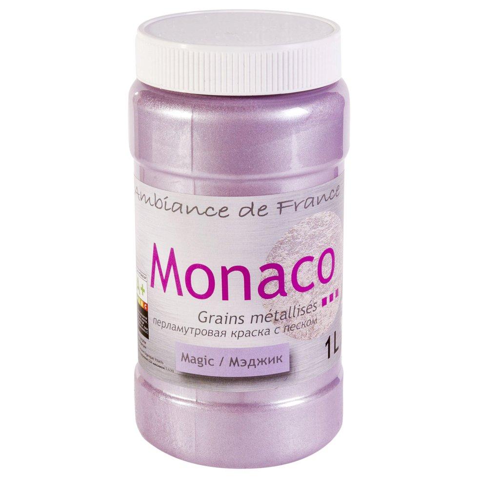 Краска перламутровая с песком Monaco 1 л цвет magic