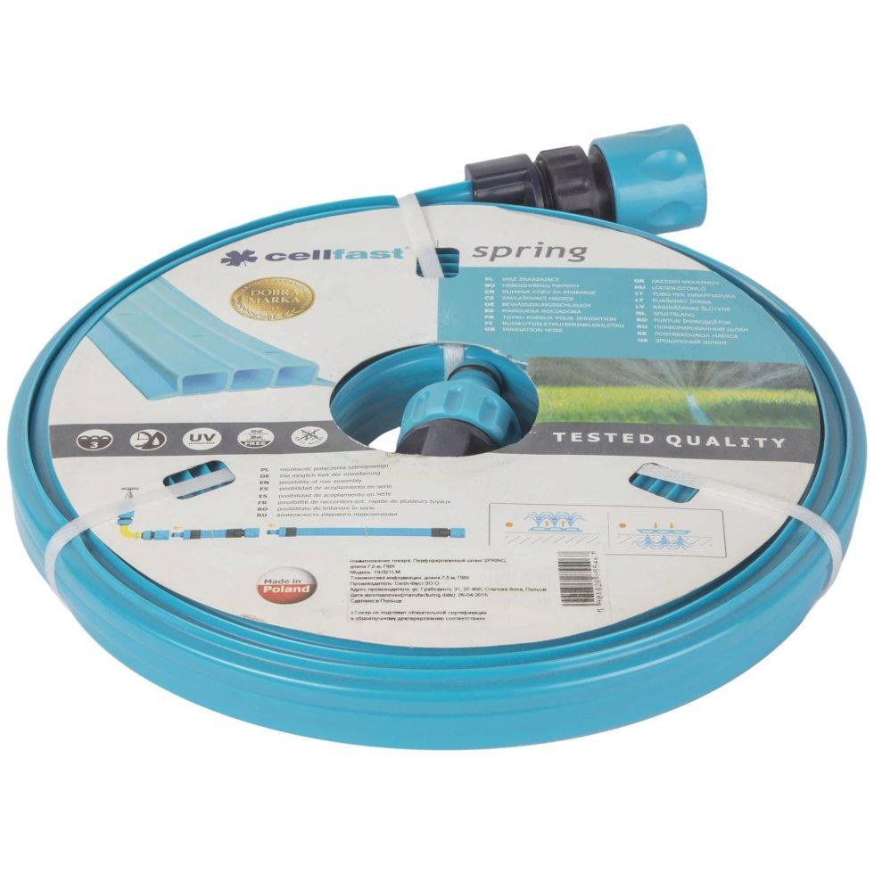 Шланг для полива Cellfast перфорированный разбрызгивающий 1/2 дюйма, 7.5 м