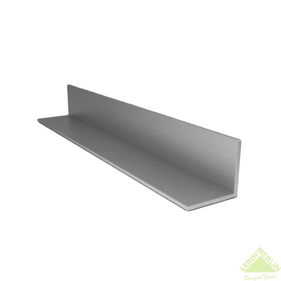 Уголок алюминиевый 40х40х2 см, 2 м, цвет серебро