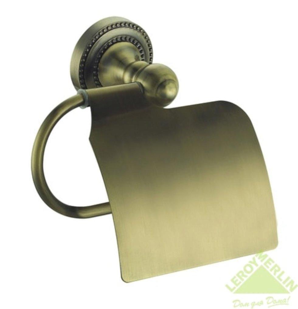 Держатель для туалетной бумаги «Antik» с крышкой керамика цвет бронза