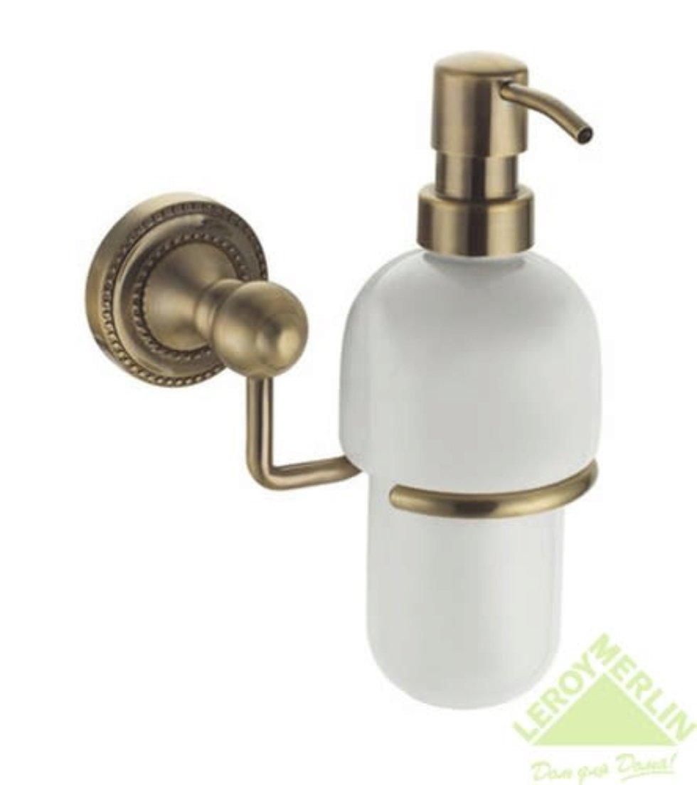 Дозатор подвесной для жидкого мыла «Antik» керамика цвет бронза