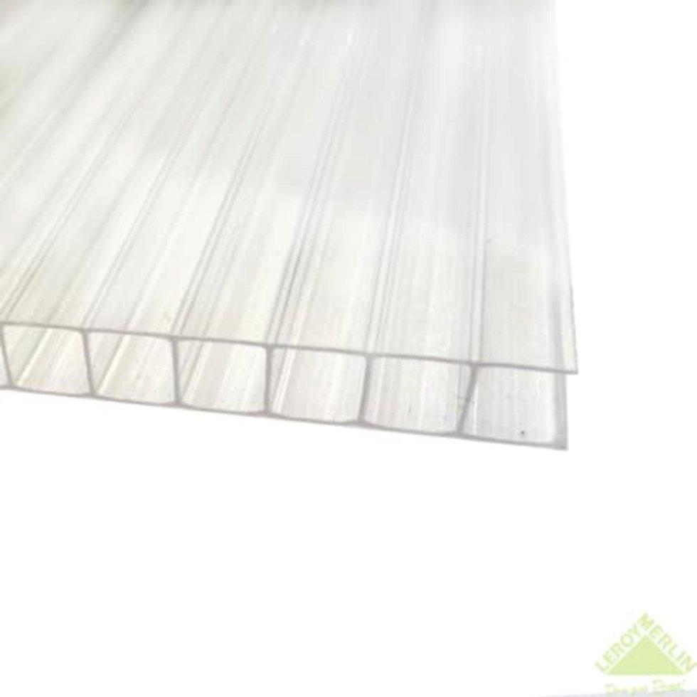 Поликарбонат сотовый 6 мм 2.1х3 м цвет прозрачный