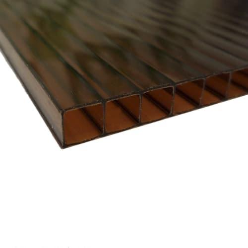 Поликарбонат сотовый 8 мм 2.1х3 м цвет терракотовый