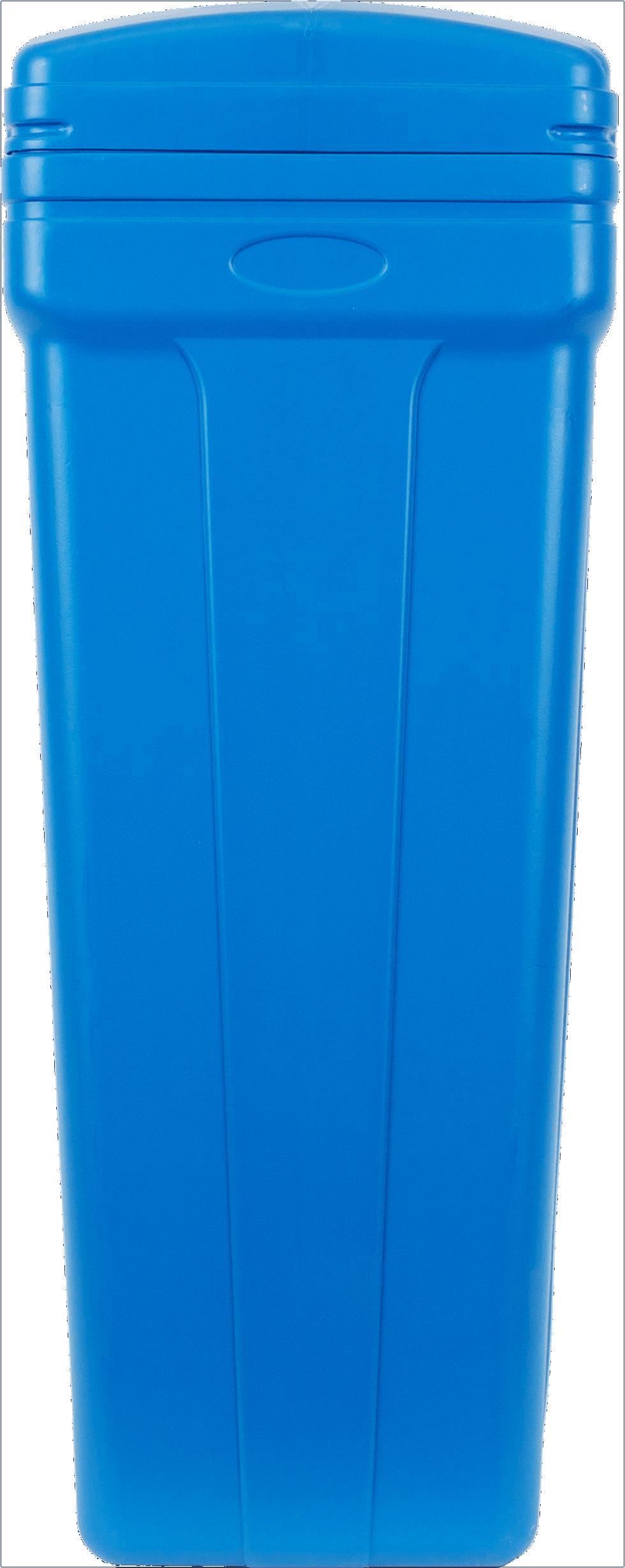 Солевой бак, 29х90х29 см, 70 л, пищевая пластмасса, цвет синий