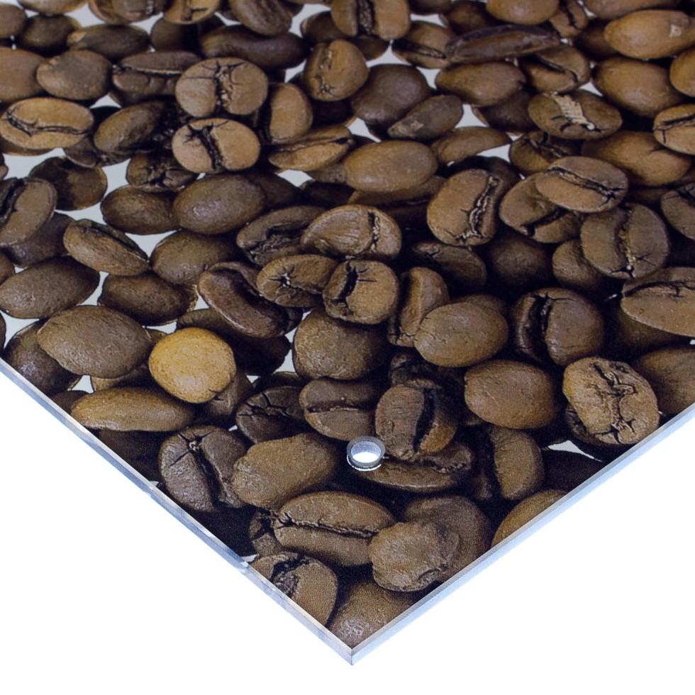 Стеновая панель Кофе 90x0.6x60 см, стекло, цвет бело-коричневый