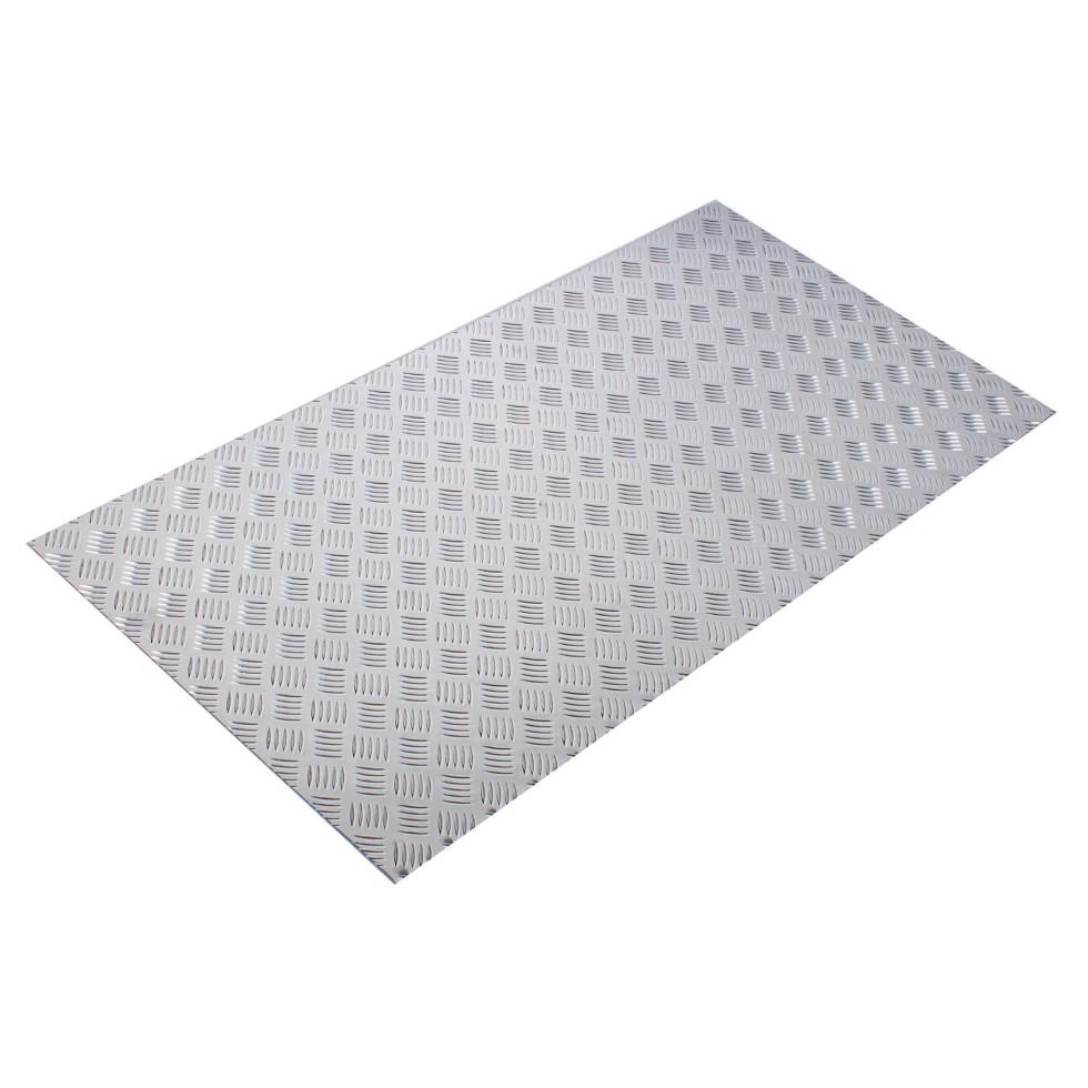 Лист рифленый АМг2 1.5х600х1200 мм, алюминий