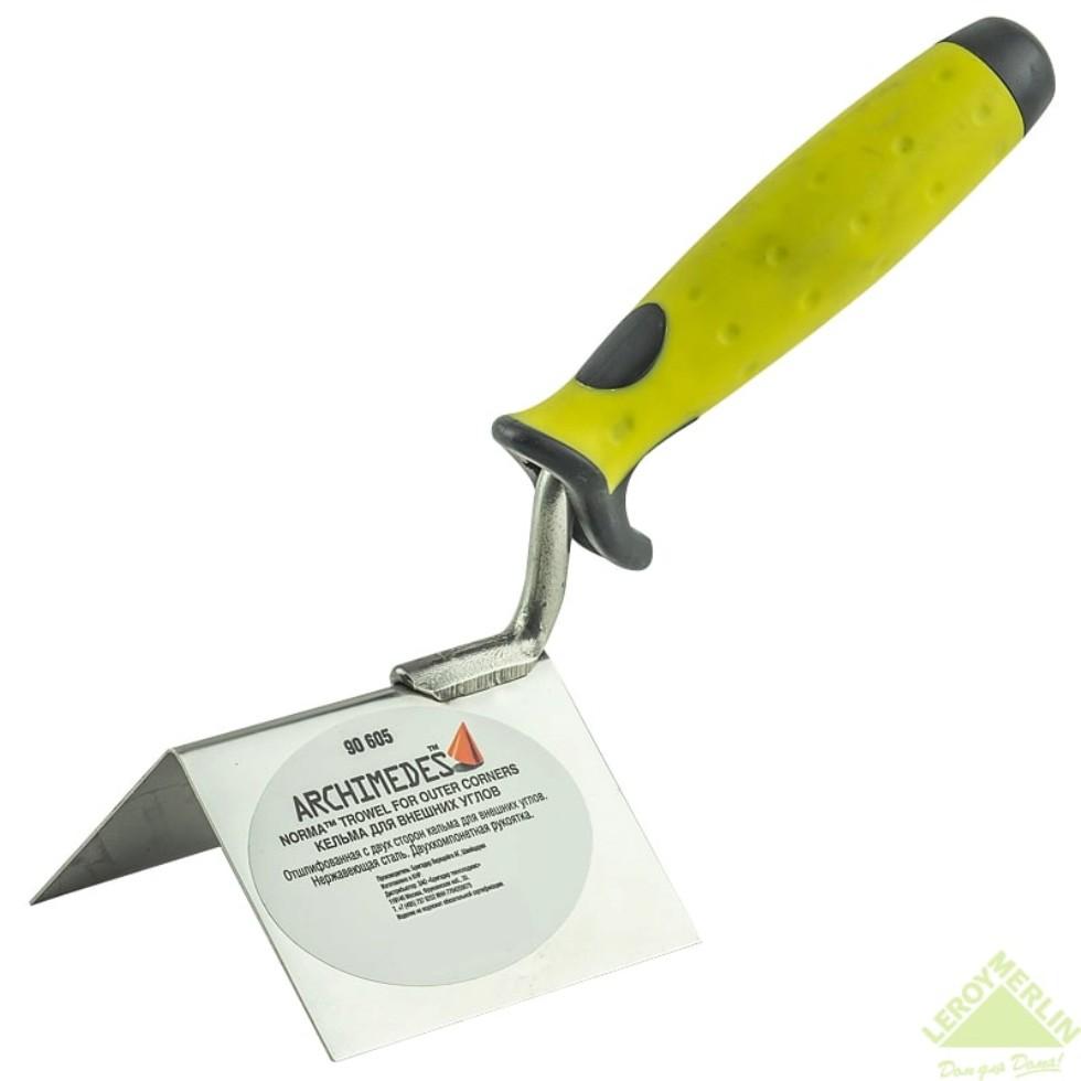 Кельма для внешних углов с двухкомпонентной ручкой 60 мм