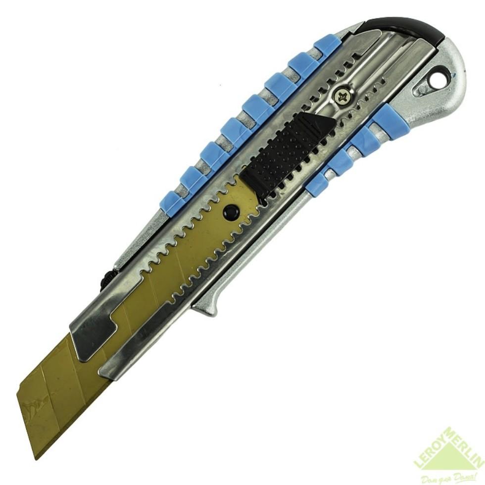 Нож 25 мм металлический корпус, лезвие с титановым покрытием