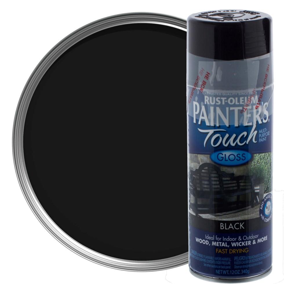 Краска аэрозольная Paint Touch глянцевая цвет чёрный 340 г