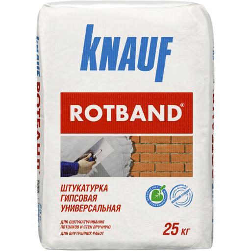 Штукатурка гипсовая Knauf Ротбанд, 25 кг
