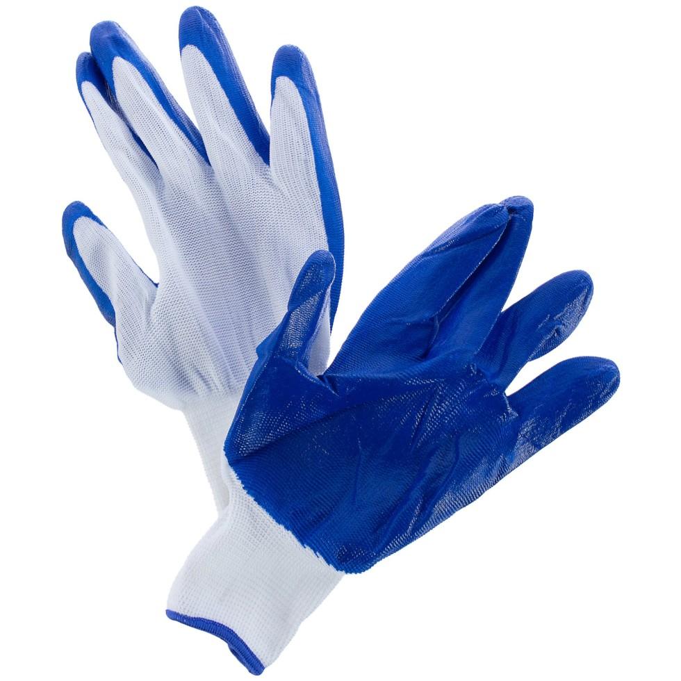 Перчатки Brigadier, нейлоновые с нитрил-латексным обливом
