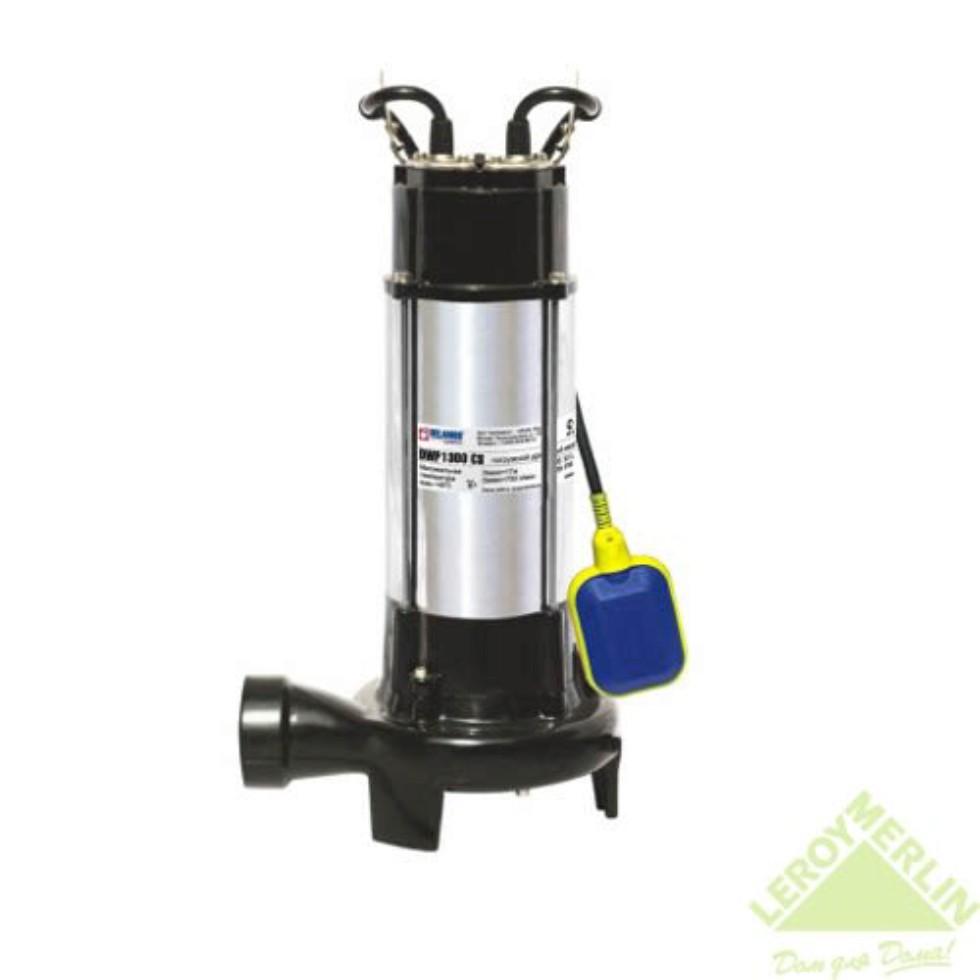 Насос погружной дренажный фекальный DWP 18000 л/час для грязной воды, с ножами