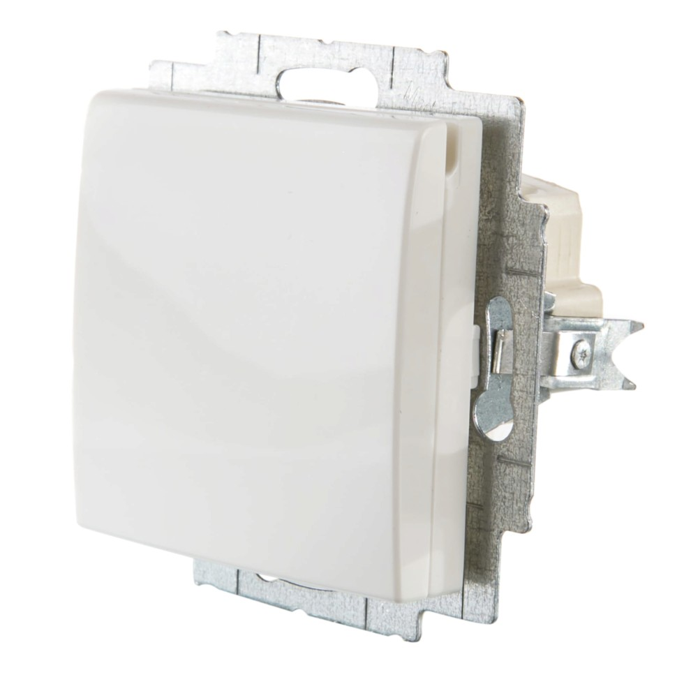 Розетка ABB Basic55 с заземлением крышка цвет белый