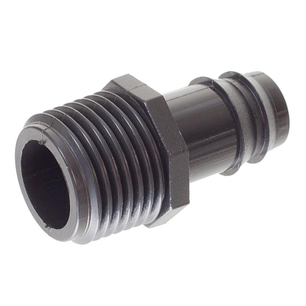 Адаптер для капельной трубки, наружная резьба, 16 мм x 1/2 дюйма