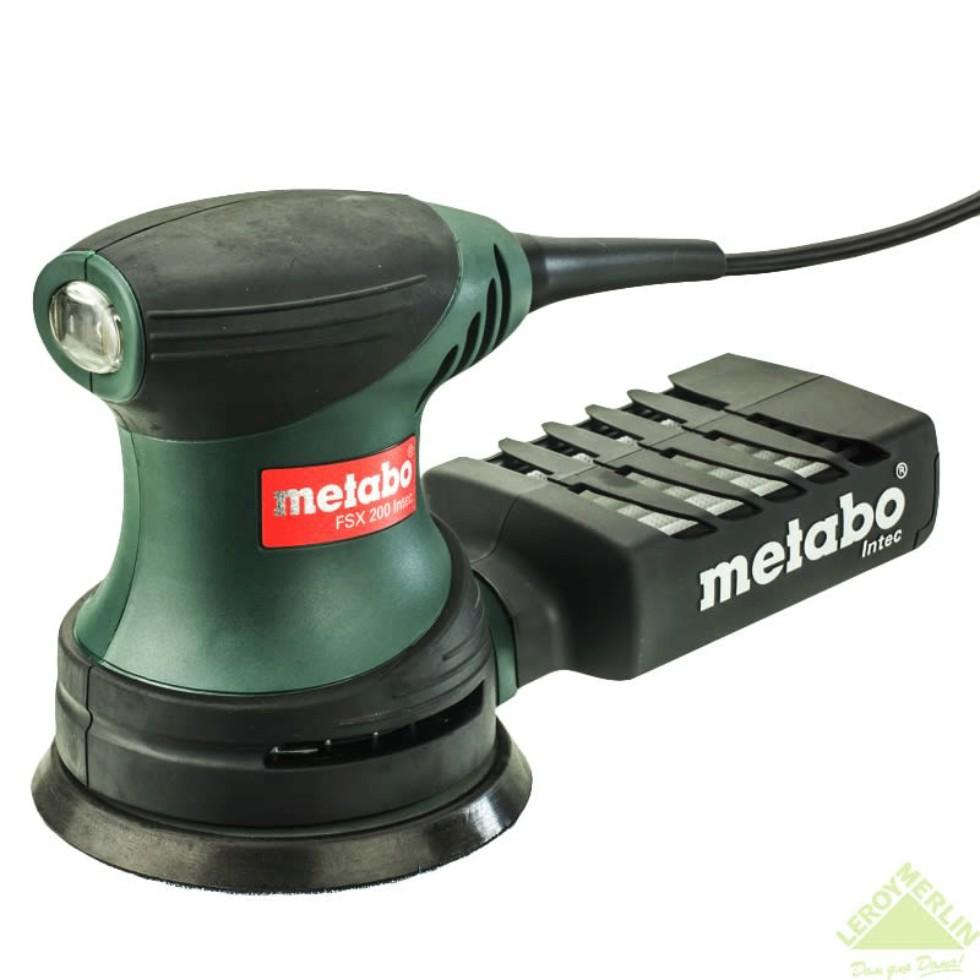 Эксцентриковая шлифовальная машина Metabo FSX 200 Intec, 240 Вт, 125 мм