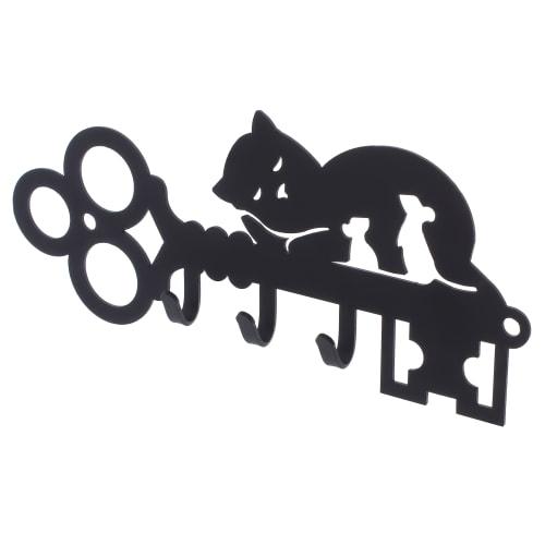 Ключница DuckandDog «Кот», 190х99х19 мм, сталь, цвет чёрный матовый