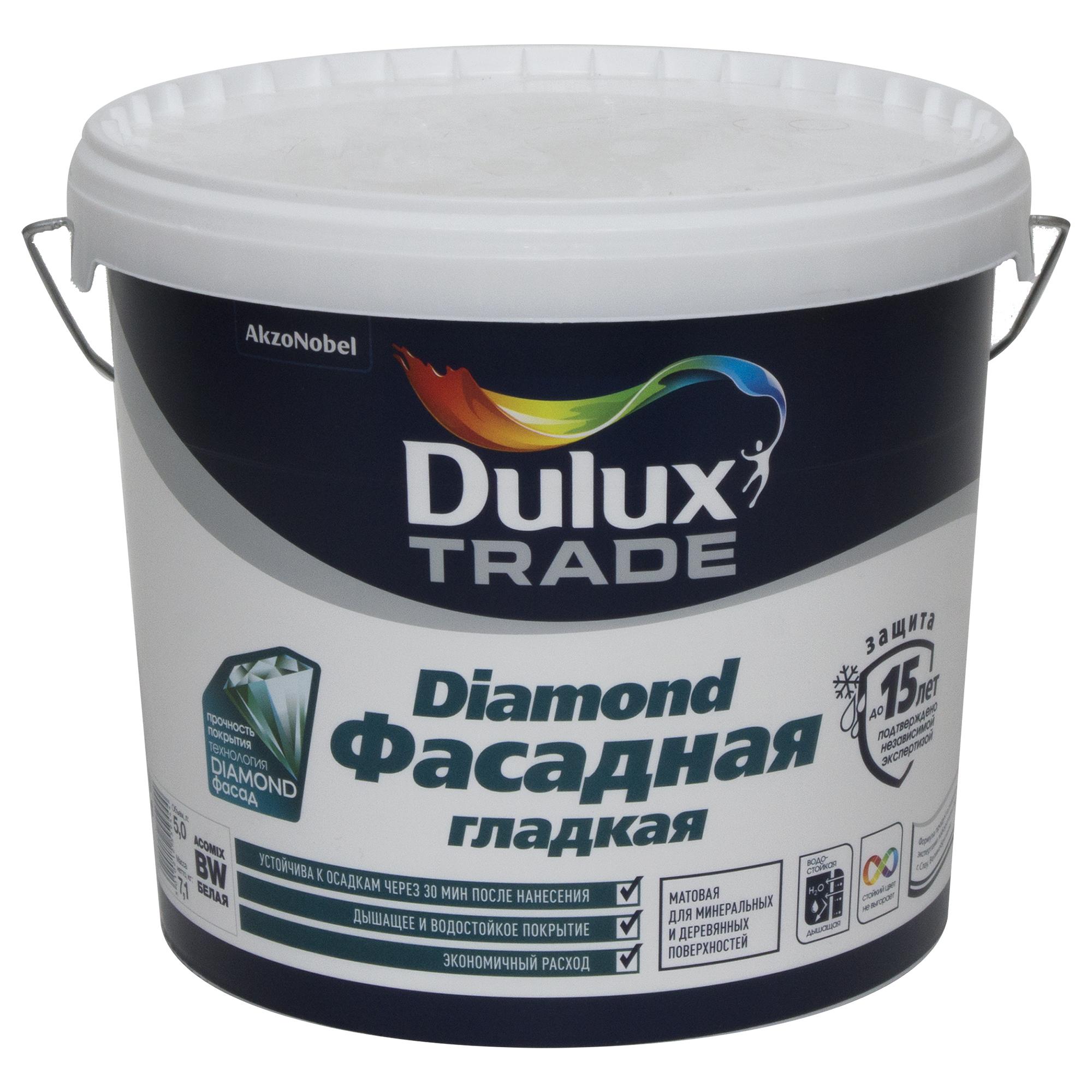 Водоэмульсионная краска Dulux Фасадная Гладкая, база BM, 4,8 л