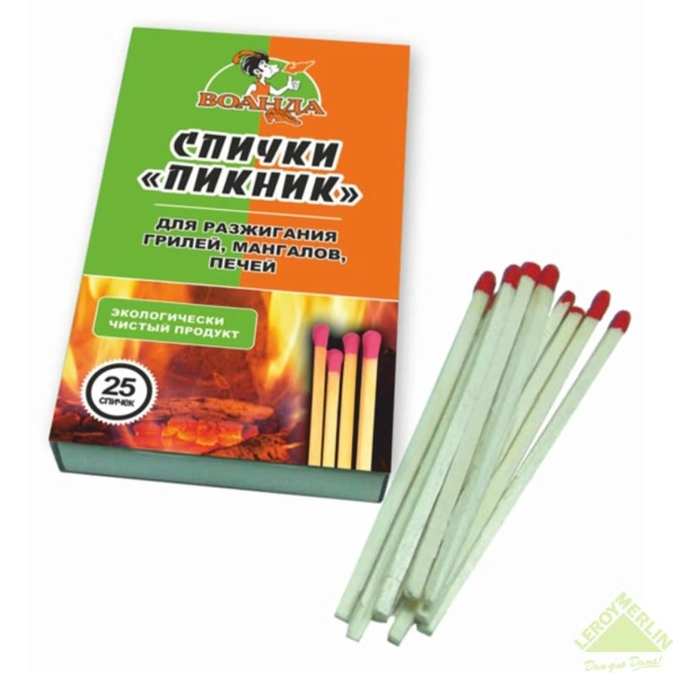 Спички обычные «Пикник», для розжига мангалов, грилей, 25 шт. в коробке