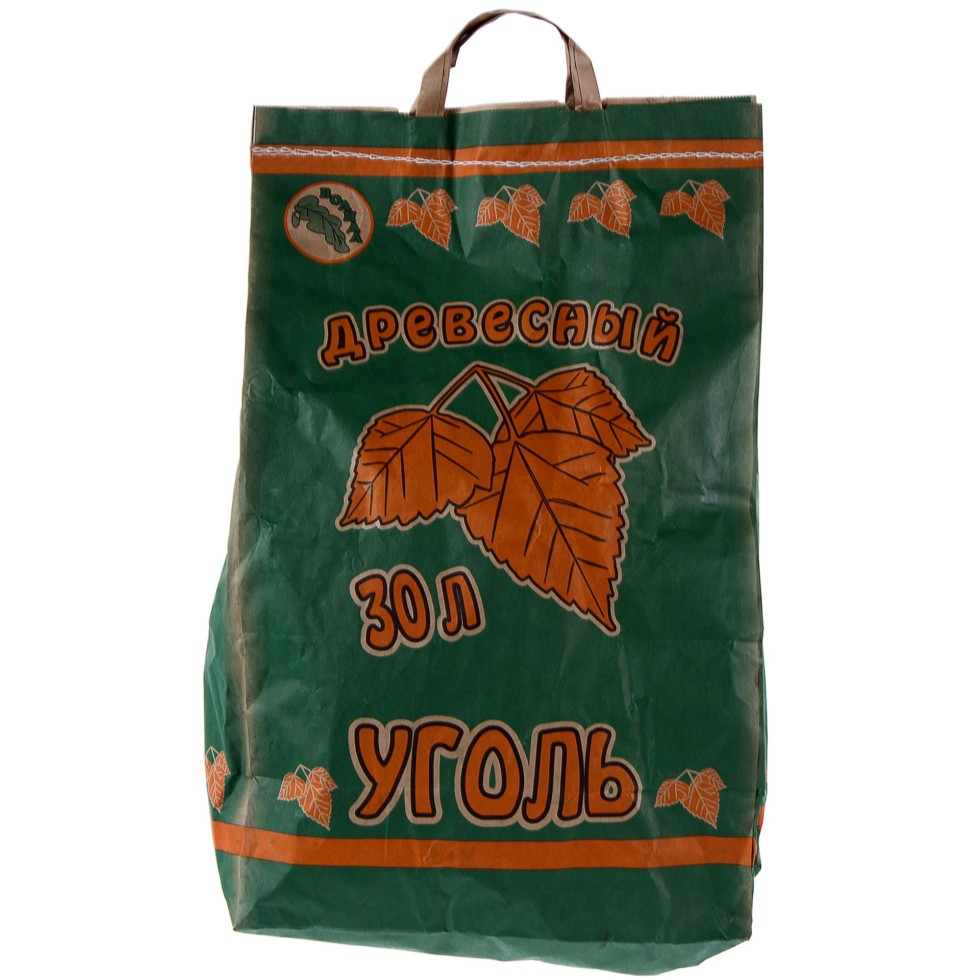 Уголь древесный 30 л (6 кг)