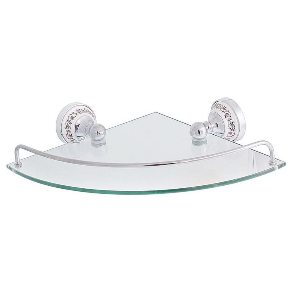 Полка для ванной комнаты «Bogema» латунь угловая