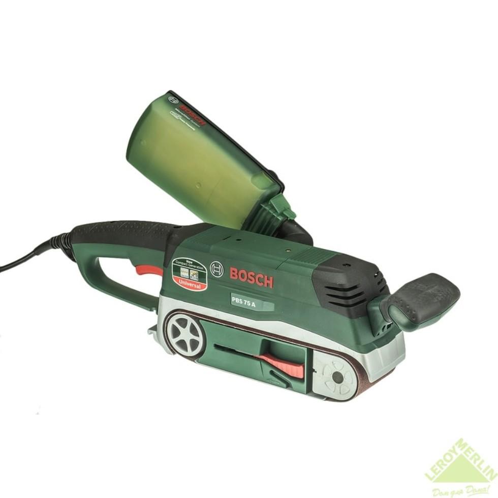 Ленточная шлифовальная машина Bosch PBS 75 A, 710 Вт, 76х533 мм
