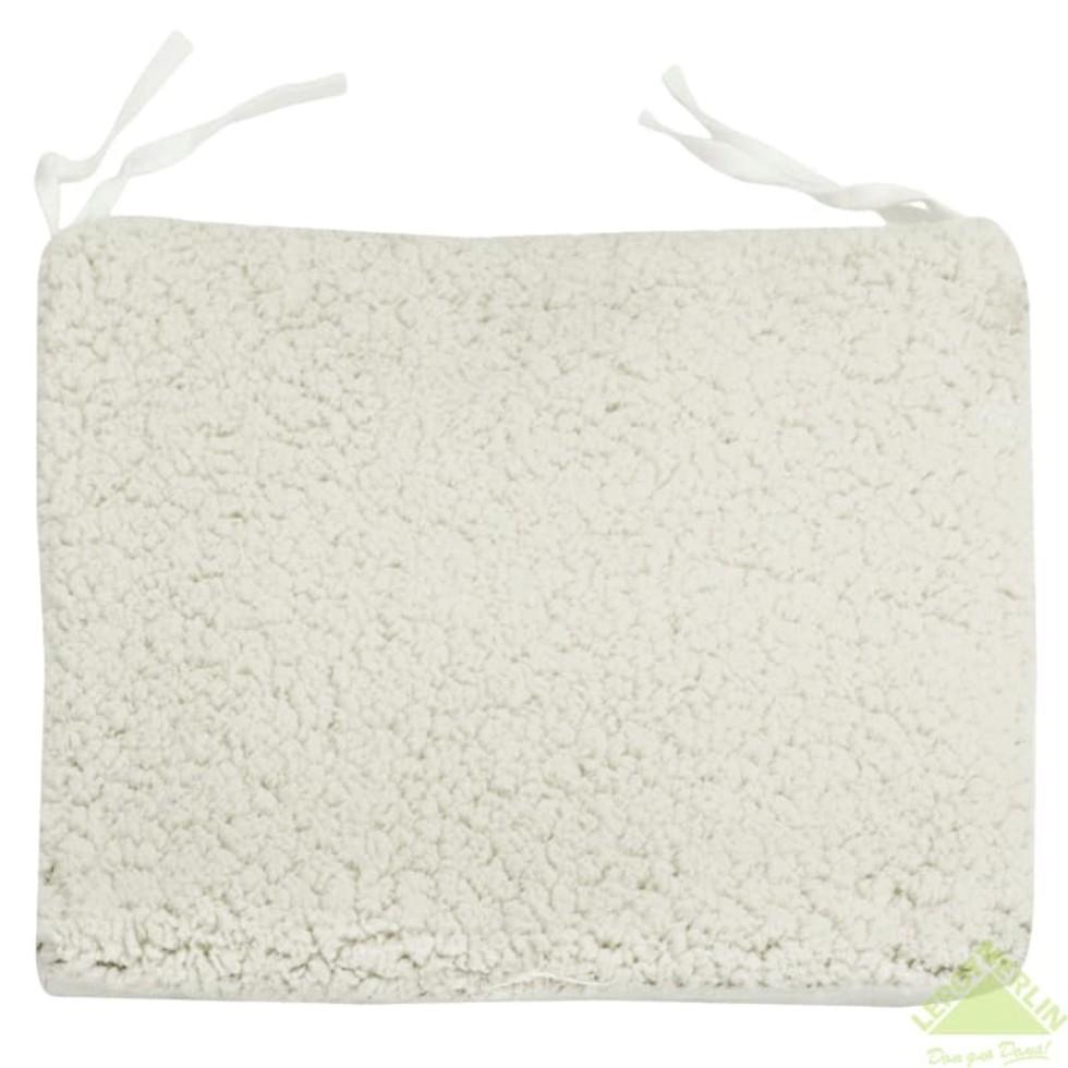 Сидушка Шерпа 40х40 см цвет кремовый