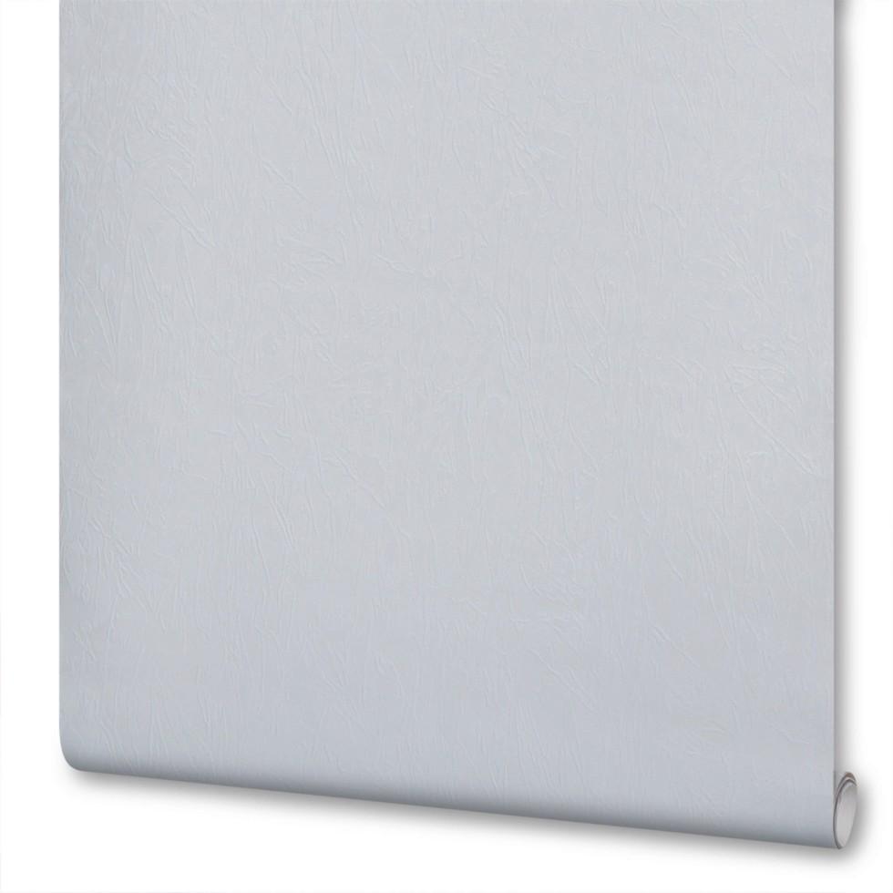 Обои бумажные Аккорд-00 0.53х10 м жатка цвет белый