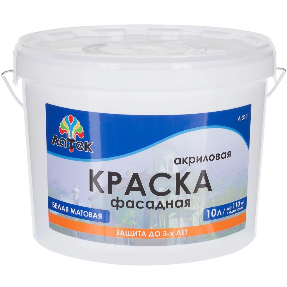 Краска для фасадов Латек, 15 кг