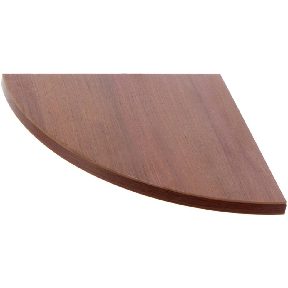 Полка мебельная закруглённая секторальная 250x250x16 мм ЛДСП цвет орех