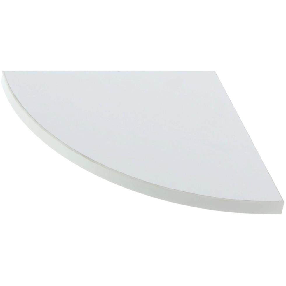 Полка мебельная закруглённая секторальная 350x350x16 мм ЛДСП цвет белый