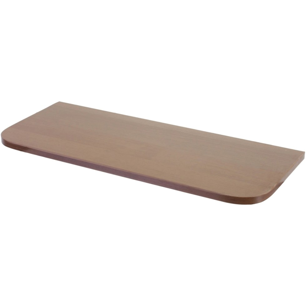 Полка мебельная с закруглёнными углами 600х250х16 мм ЛДСП цвет орех