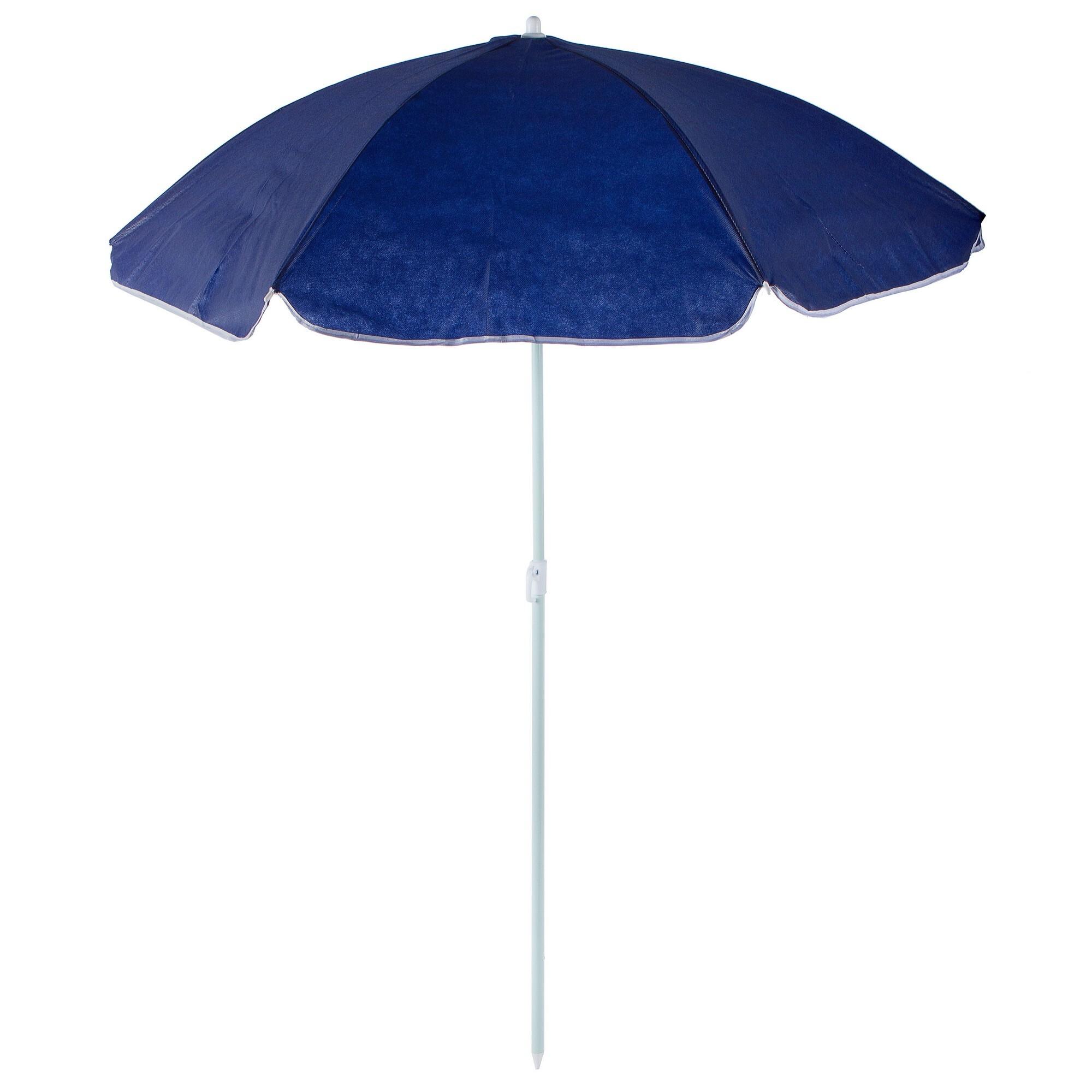 Зонт пляжный 2 м синий, металл/полиэстер