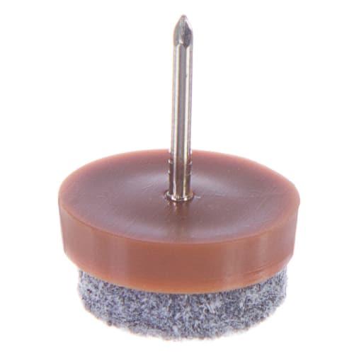 Набойки фетровые Standers 20 мм, круглые, войлок, цвет коричневый, 8 шт.