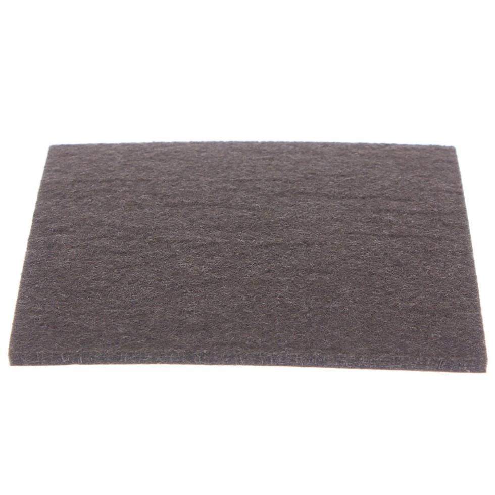 Лист фетра Standers 100x100 мм, квадратные, войлок, цвет коричневый, 1 шт.