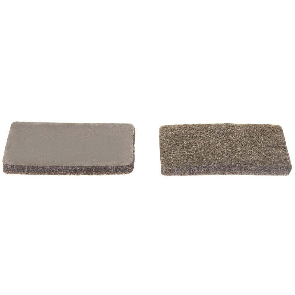 Накладки фетровые Standers, 25х36 мм, прямоугольные, цвет коричневый, 8 шт.