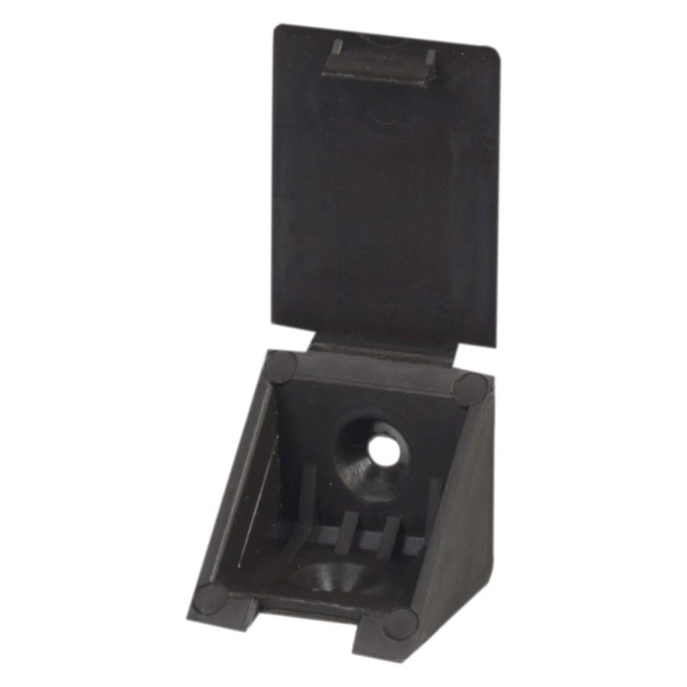 Уголок монтажный 25 мм, пластик, цвет темно-коричневый, 8 шт.