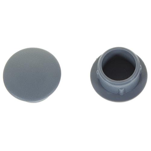 Заглушка для дверных коробок 12 мм полиэтилен цвет серый, 20 шт.