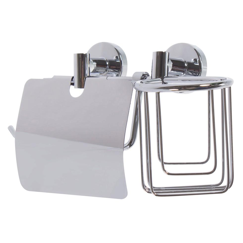 Держатель для туалетной бумаги и освежителя воздуха Mr Penguin «Sonata» цвет хром