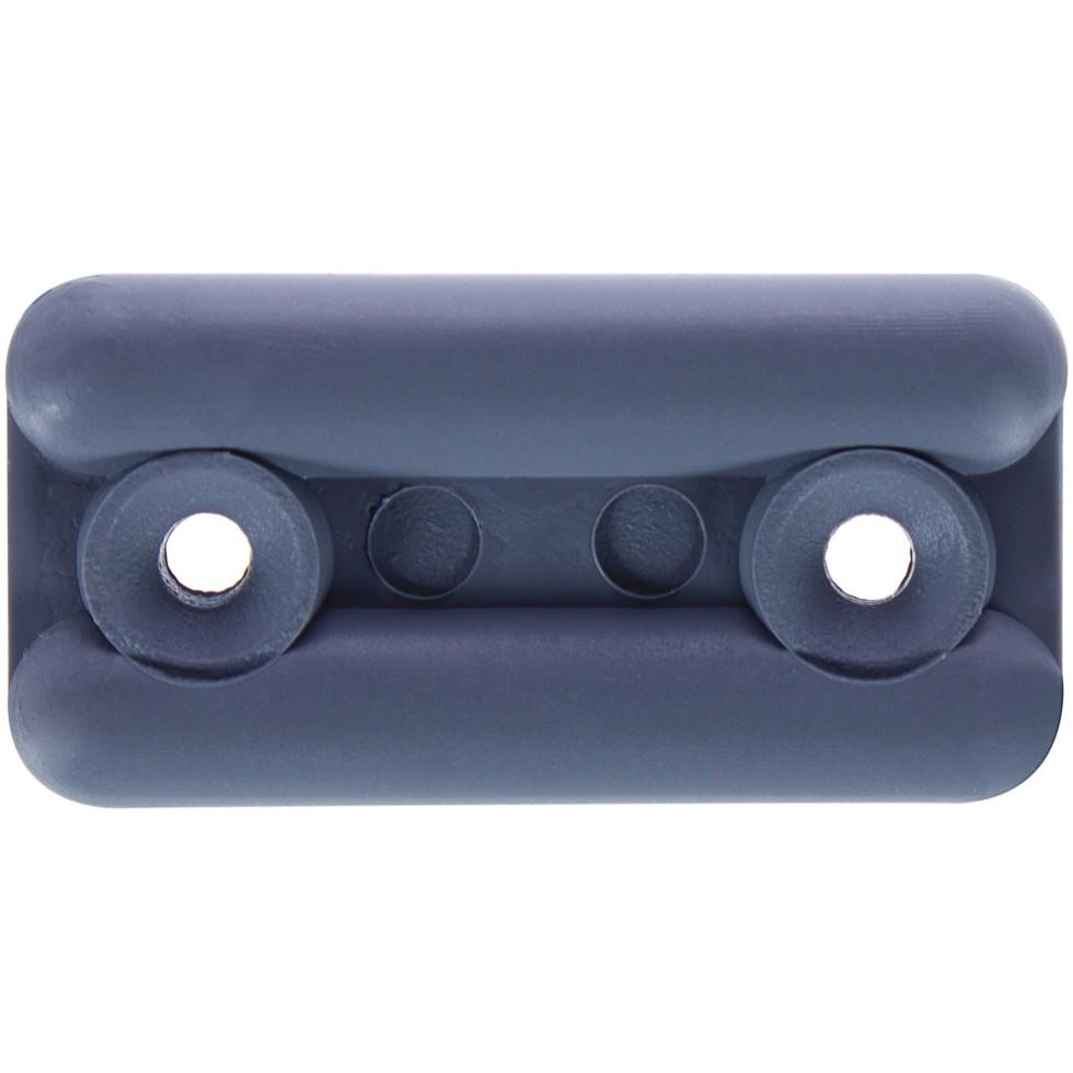 Подпятник прямоугольный 18х35 см, пластик, цвет серый, 8 шт.