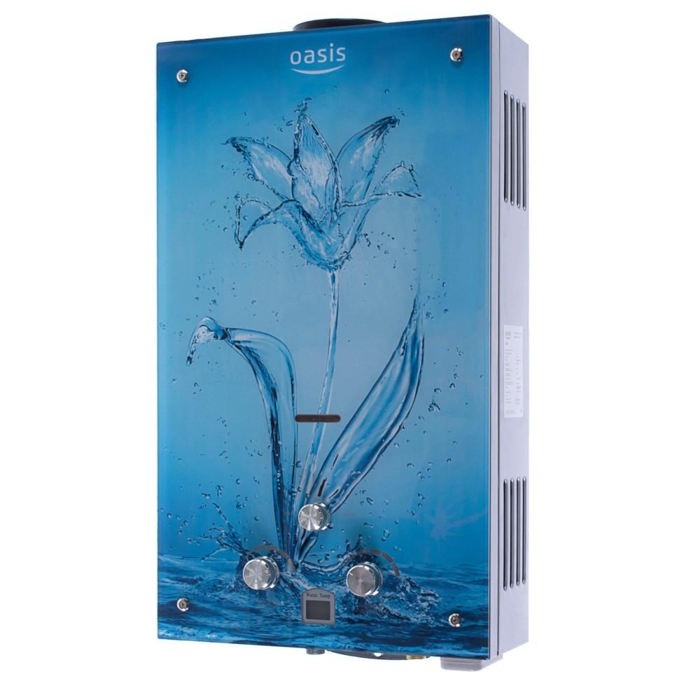 Колонка газовая Oasis, 10 л/мин, цвет голубой