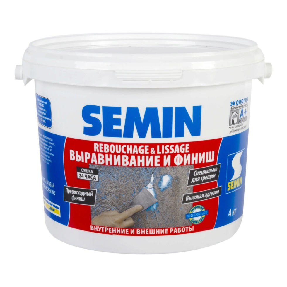 Финишпаста полимерная Semin Rebouchage & Lissage, 4 кг