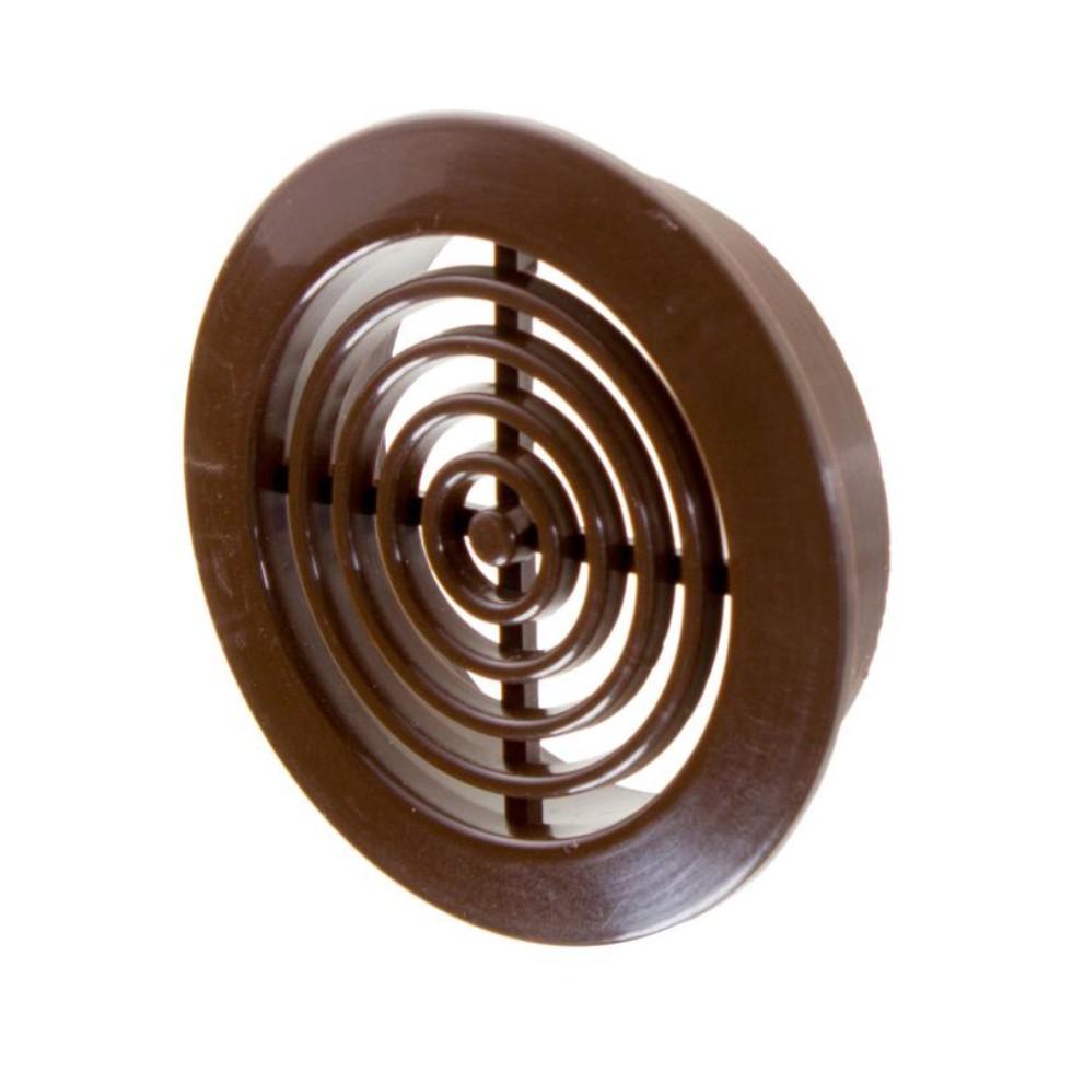 Решетка дверная вентиляционная Awenta T-73, D45 мм, цвет коричневый, 2 шт