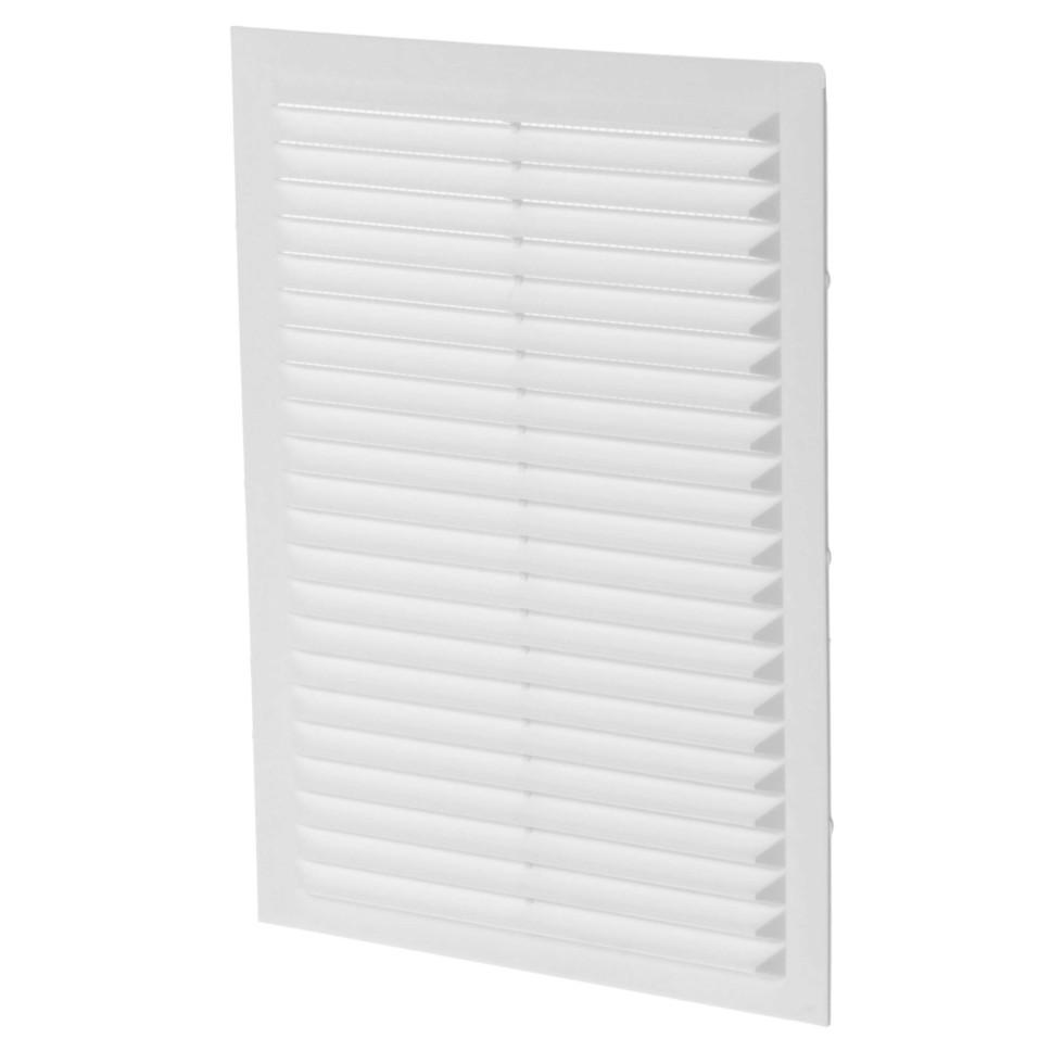 Решетка вентиляционная вытяжная АБС 1724С, 170х240 мм, цвет белый