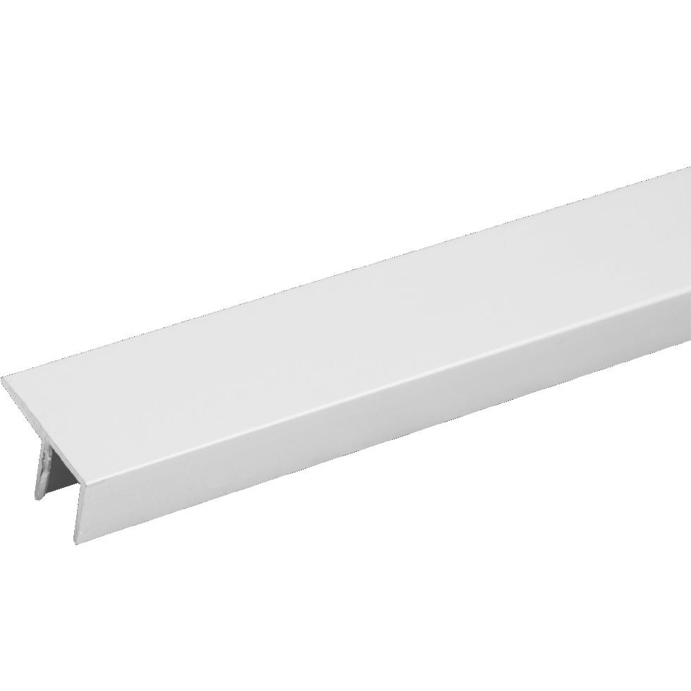 Планка для стеновой панели угловая F-образная 60х1.8х0.4 см, алюминий
