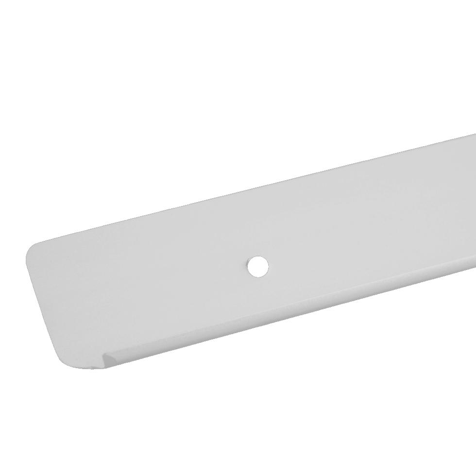 Планка для столешницы торцевая 3.8 см цвет матовый хром