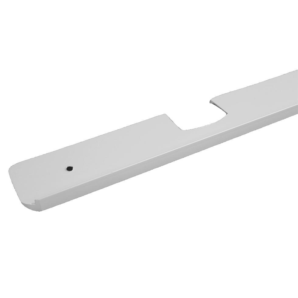 Планка для столешницы угловая 3.8 см цвет матовый хром